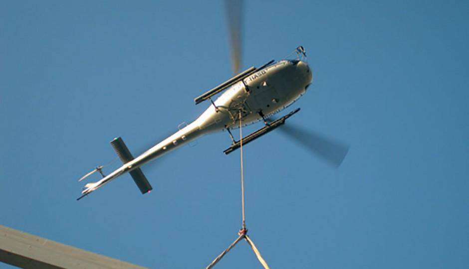 BCT - Posa tetto con elicottero